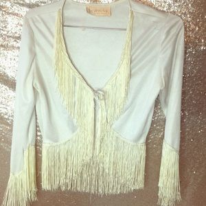 Vintage Frederick's of Hollywood white blouse